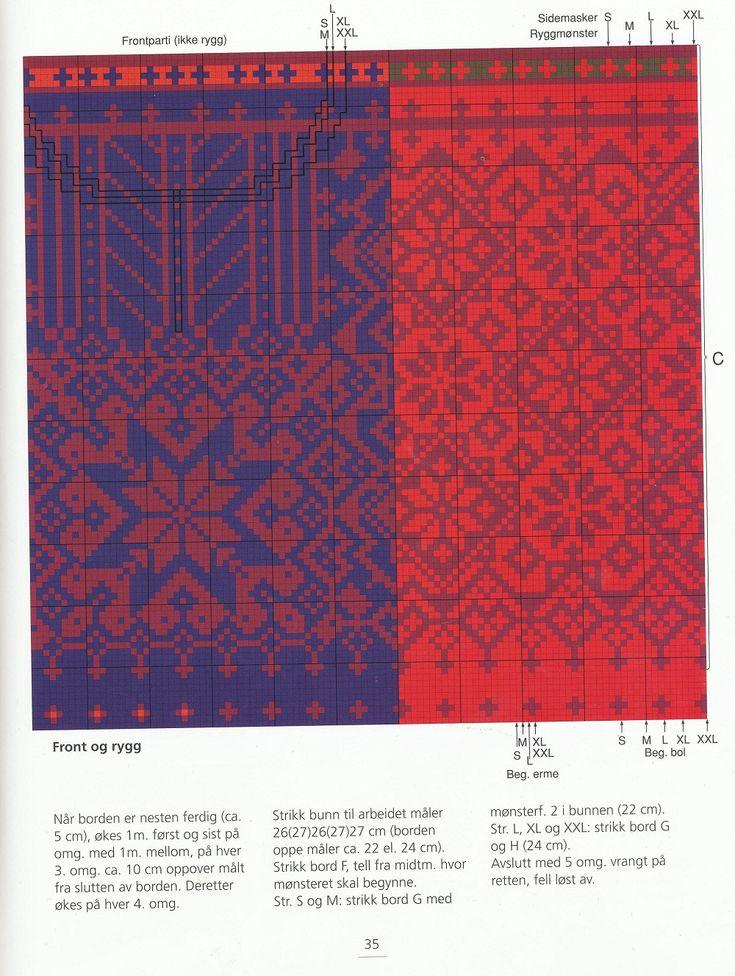482 best 05 жаккард - орНАМент images on Pinterest   Knitting ...