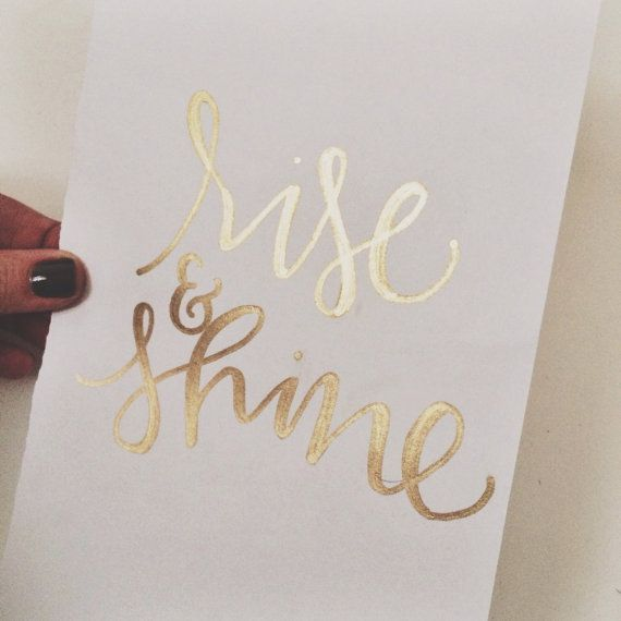 the rise rise and shine print by kyligraphy on Etsy