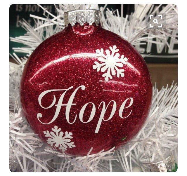 Hope Ornament Red Glitter Hope Ornament Christmas