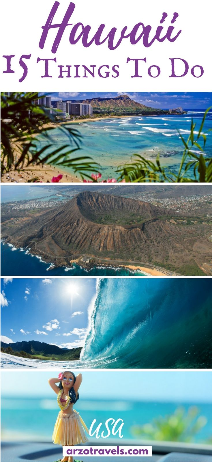 Best things to do and see in Hawaii, USA and a pre-travel guide for the different islands. Best places to see.