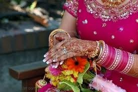 Indian bride Henna and bangles.