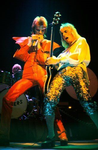 David Bowie with Mick Ronson