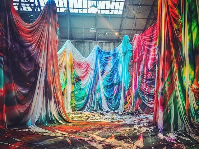 1.1 Katharina Grosse: THE HORSE TROTTED ANOTHER COUPLE OF METRES THEN IT STOPPED @carriageworks @katharina_grosse  @sydney #carriageworks #katharinagrosse #thehorsetrottedanothercoupleofmetresthenitstopped #eveleigh #sydney #sydneyarts #art #creative #painting #creative #love #bright #expression #clovarcreative #artist #life #newsouthwales #australia