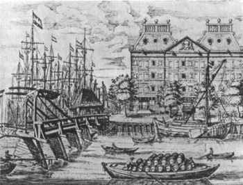 New Amsterdam Colony | The Dutch West India Warehouse in New Amsterdam