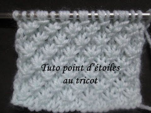 TUTO POINT D'ETOILE AU TRICOT star knitting stitch - YouTube