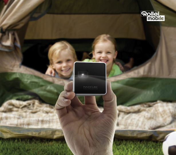 Rollei Innocube pico projector brings you affordable and compact device which can be an ideal companion for your smartphones, tablets, or any other gadgets.