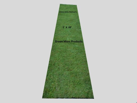 MOSS RUNNER 2FT WIDE x 8FT LONG.THESE MOSS RUNNERS ARE MADE FROM SHEETS OF MOSS, NOT MOSS MULCH AS YOU SEE ON ANY OTHER SITE.OFTEN USED FOR