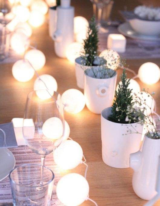 Centro de mesa con luces para un momento especial | Tarjetas Imprimibles
