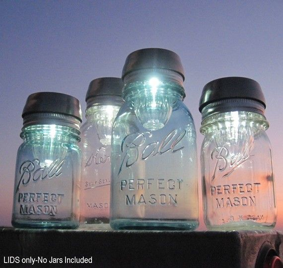 Mason Jar Hack - Solar Night Lights