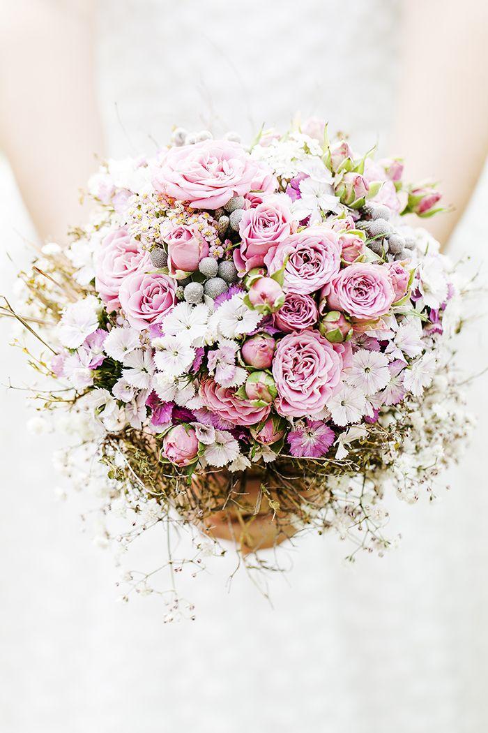 #Brautstrauss im Vintage Look in rosa & weiß