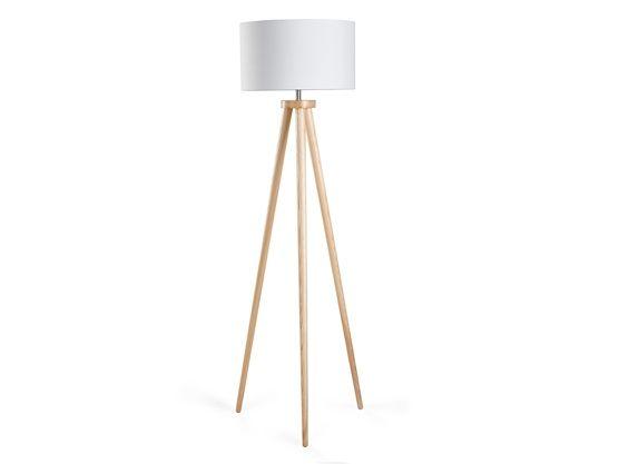 Modern golvlampa vit - stående lampa - belysning - NITRA
