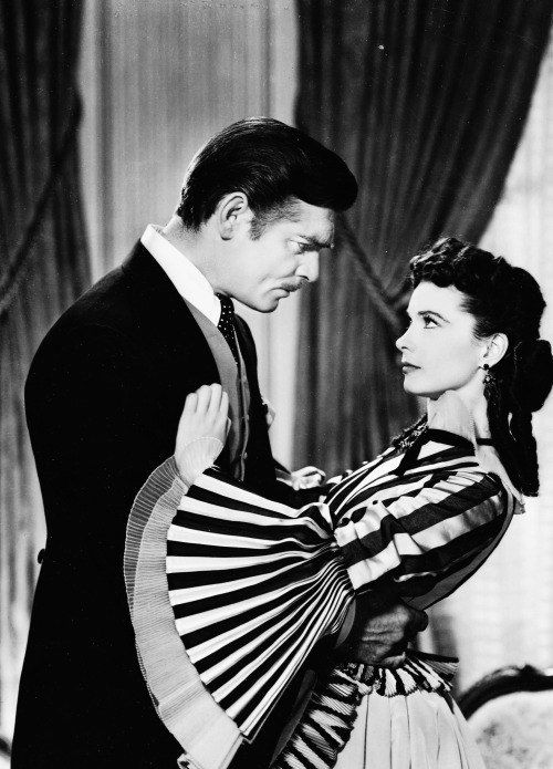 """Кларк Гейбл и Вивьен Ли в """"Унесенных ветром"""", 1939"""