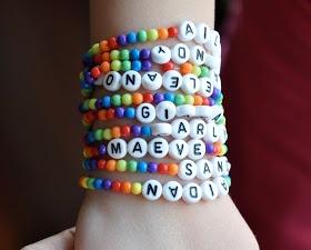 rainbow bracelets - goody bags