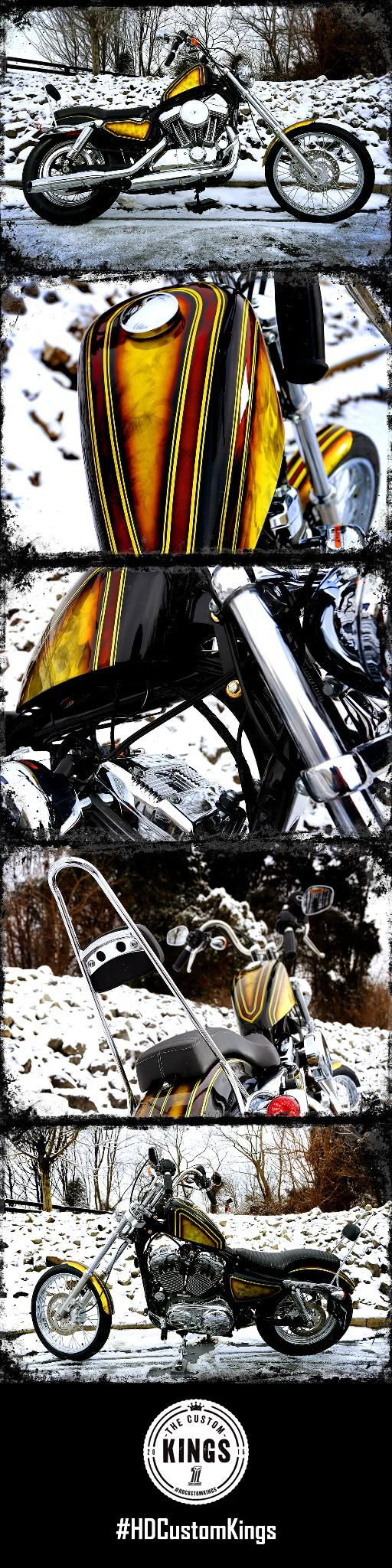 Bluegrass Harley-Davidson chose to tap into the creative minds of our customization fore-fathers and build a chopper-style vintage inspired bike, reminiscent of the 60's and 70's freedom machines. | Harley-Davidson #HDCustomKings
