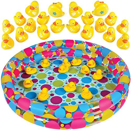 "Duck Pond Matching Game for kids by GAMIE - Includes 20 Plastic Ducks with number & shapes And 3' x 6"" Inflatable Pool - Fun Memory Game - Water Outdoor Game for Children, Preschoolers, Birthday Party with fast, FREE Shipping    #carscampus #sale #shop #cars #car #campus"
