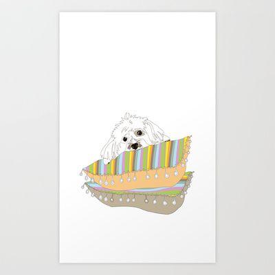 Puppy Love Art Print by Sketchbook Designs - $18.00