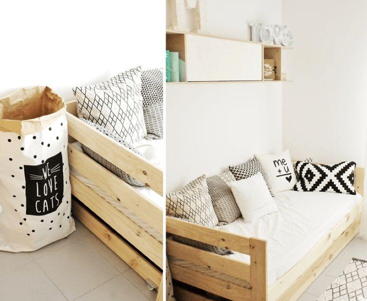 55 best camas lufe images on pinterest the hague wood for Sofa cama de madera