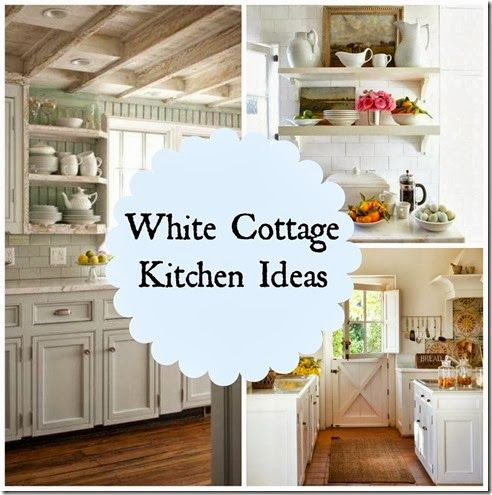White cottage kitchen ideas kitchens pinterest for Kitchen ideas pinterest