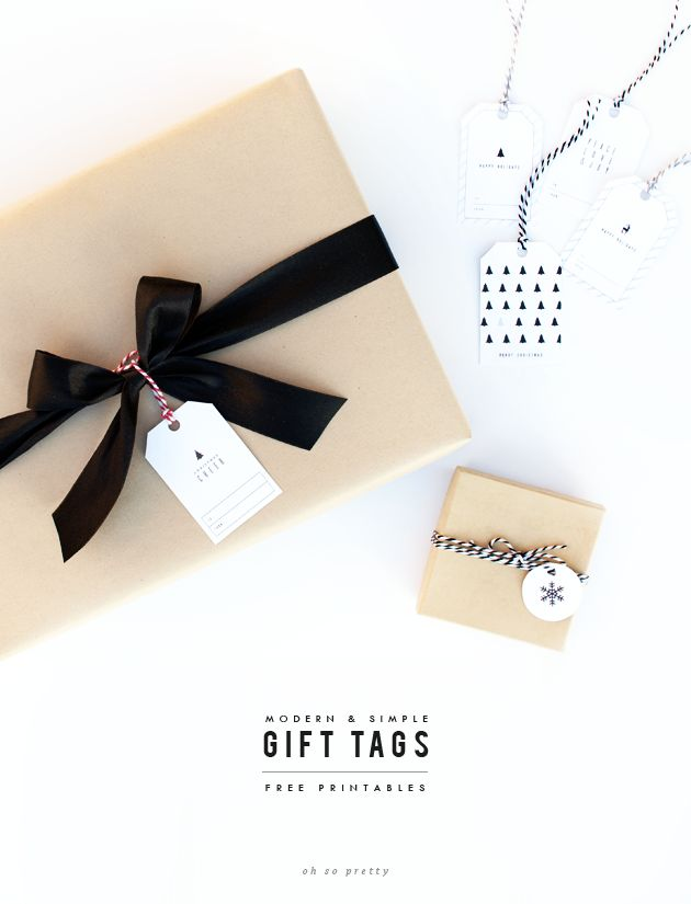 Free Printables // Holiday Gift Tags - Oh So Pretty