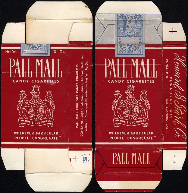 Stark - Pall Mall - candy cigarettes - box - 1960's 1970's | Flickr - Photo Sharing!