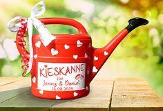 """Geldgeschenke - Geldgeschenk """"Kieskanne"""" zur Hochzeit - in Rot - ein Designerstück von inspiering bei DaWanda"""