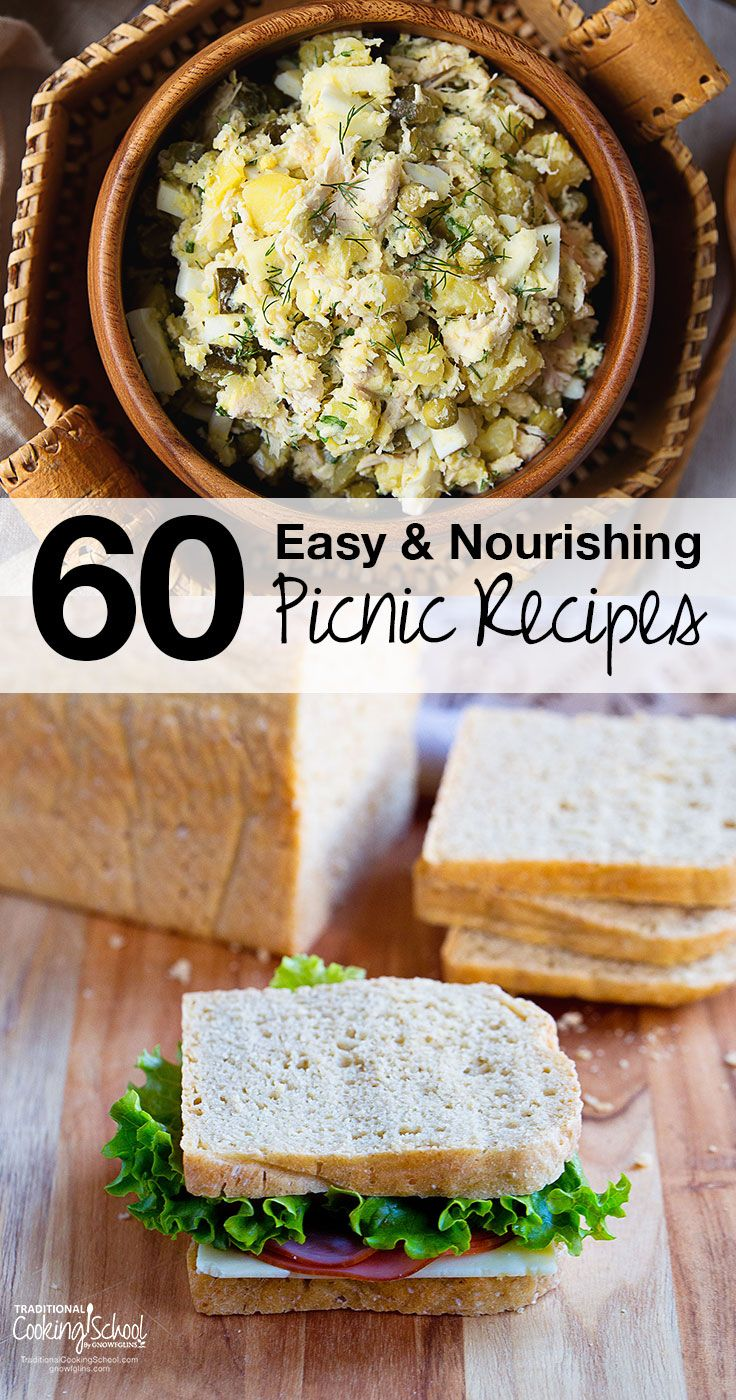 Pack your next picnic with healthy, homemade dishes, not packaged or boxed junk. Whether you pack them in a backpack, basket, or ice chest, these easy and nourishing picnic recipes are no-fuss and good for you! [by Lindsey Dietz]