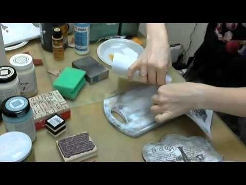 Видео мастер-класс: протравливание, трансфер распечатки и штампинг - Ярмарка Мастеров - ручная работа, handmade