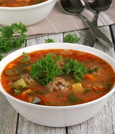Mexican Meatball Soup Recipe - RecipeChart.com