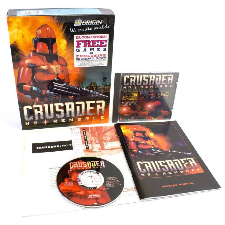 Crusader: No Remorse for PC by ORIGIN in Big Box, 1995, CIB, VGC #CrusaderNoRemorse
