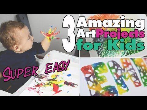 3 einfache Kunstprojekte für Kinder | Easy Art 4 kids | DIY | mamiblock - Der Mami Blog - YouTube