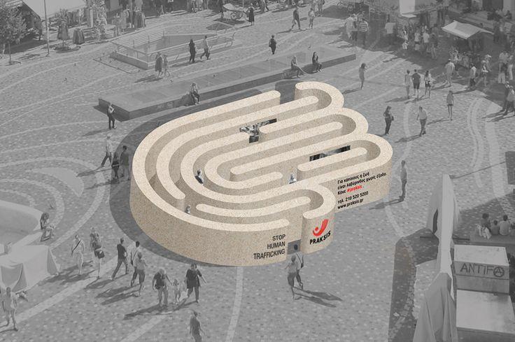 Stop Human Trafficking exhibition design at Monastiraki Square - client: Praksis - designers: Effie Koukia & Alex Kyritsis
