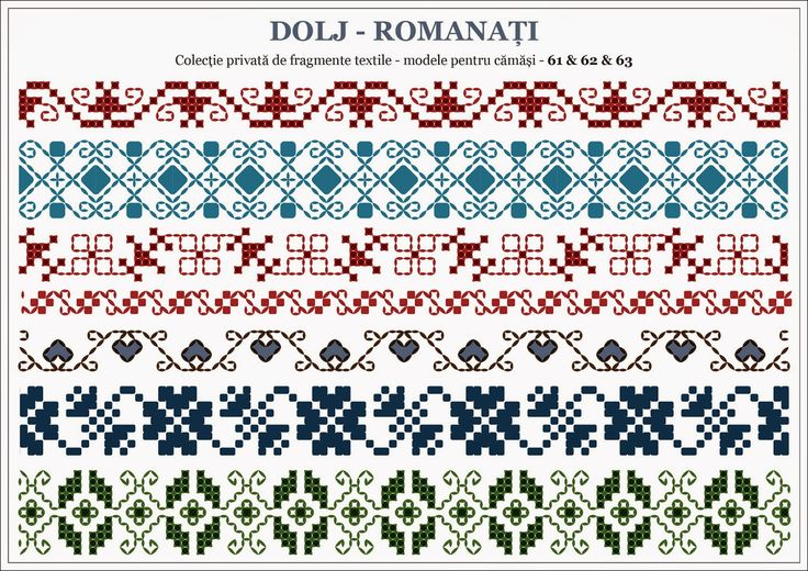 Semne Cusute: traditional Romanian motifs - OLTENIA, Dolj-Romana...