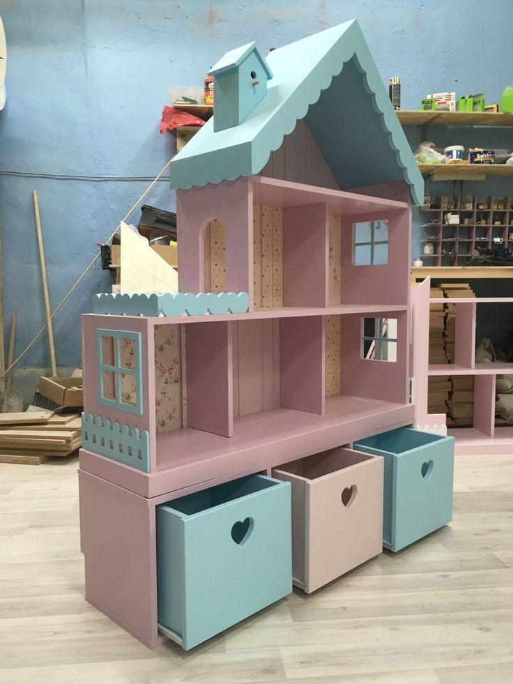 Puppenhaus-Regal für 6 Zimmer mit schmaler Kommode – kaufen im Online-Shop auf der Messe der Meister mit Lieferung – Paola Menezes