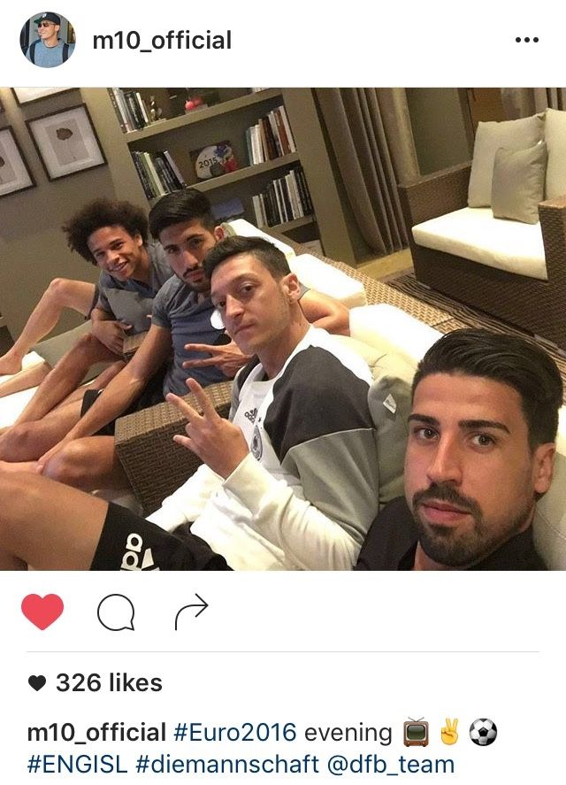 Leroy Sane, Emre Can, Mesut Özil, Sami Khedira.