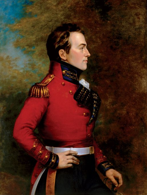 Sir Isaac Brock KB was a British Army officer and administrator. Brock was assigned to Canada in 1802. Despite facing desertions and near-mutinies, he commanded his regiment in Upper Canada successfully for many years.