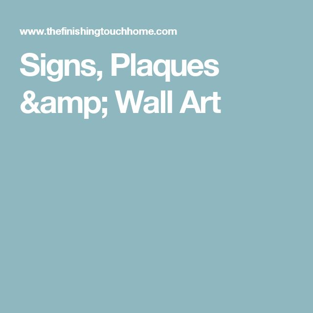 Signs, Plaques & Wall Art
