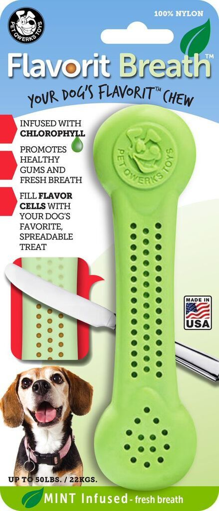 Flavorit Breath Nylon Chew Bone - Mint Flavor