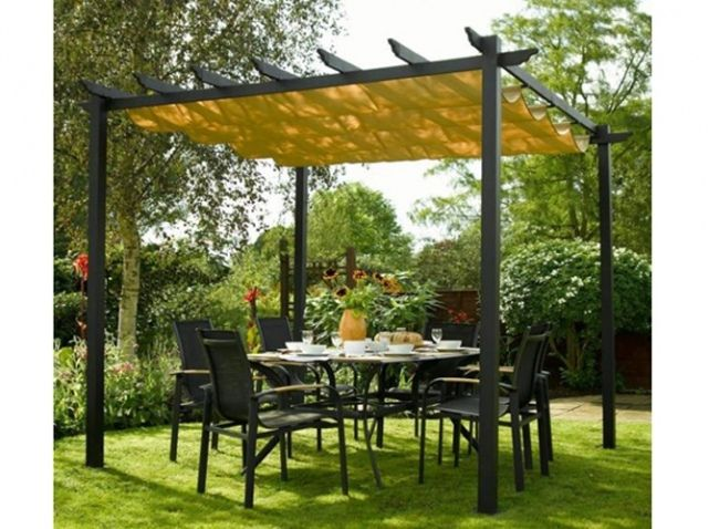 Pergola toit jaune redoute jardin pinterest photos for Amenagement jardin 974