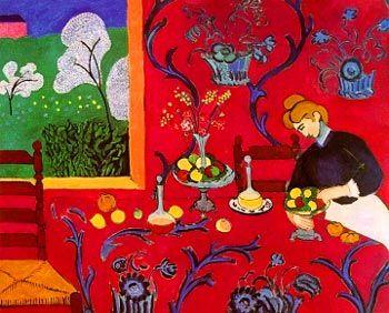 Matisse- Harmonia w czerwieni (deser) 1908, fowizm