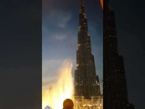 Burj Khalifa Fountain Dance On Indian Bollywood Song To Celebrate Indian...