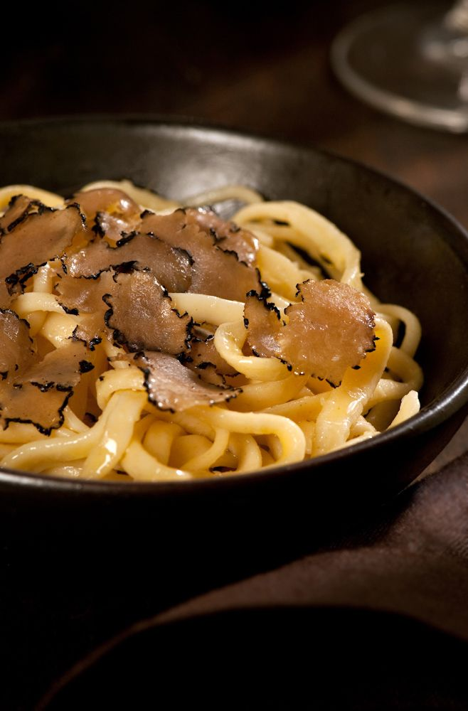 Hand-made Tajarin Pasta with Butter and Shaved Black Truffles