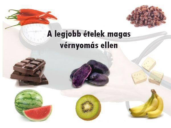 A legjobb ételek magas vérnyomás ellen