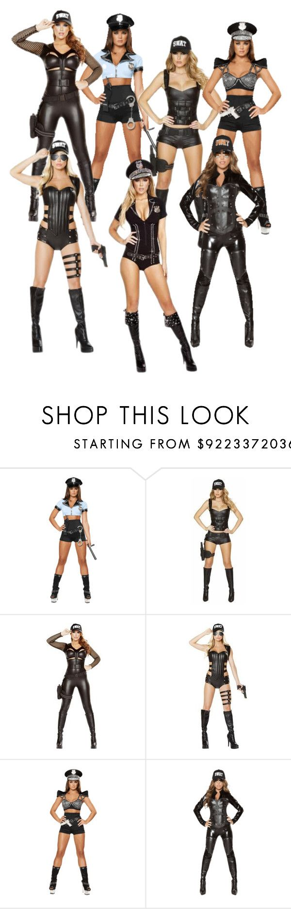 """""""Sexy Police Halloween Costumes @Musotica.com"""" by musotica ❤ liked on Polyvore"""
