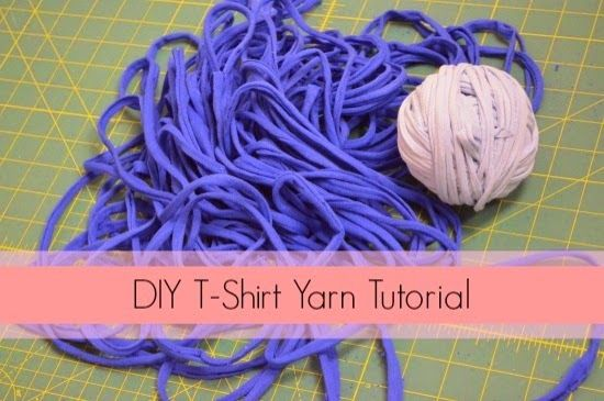 inspiration and realisation: DIY fashion blog: DIY t-shirt yarn and what to make with it