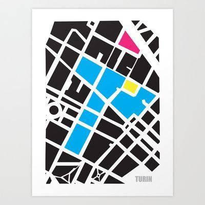 City Map Turin Art Print