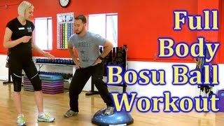 ull Body Bosu Ball Workout | Fat Burn Training, How To for Beginners | The Hills…