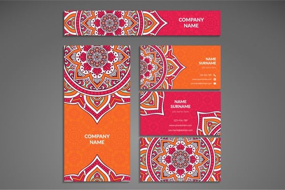 Business card in ethnic style by ViSnezh on Creative Market