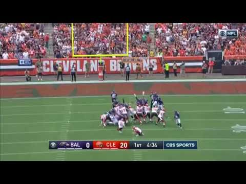 Ravens Block Browns Extra Point Attempt Return for 2-Points | Ravens vs. Browns | NFL - YouTube