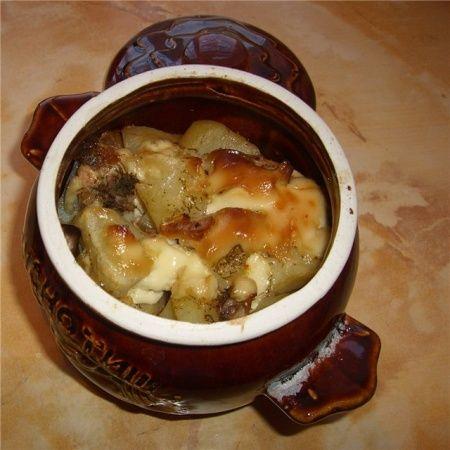 Рецепт - Жаркое по-домашнему в горшочках