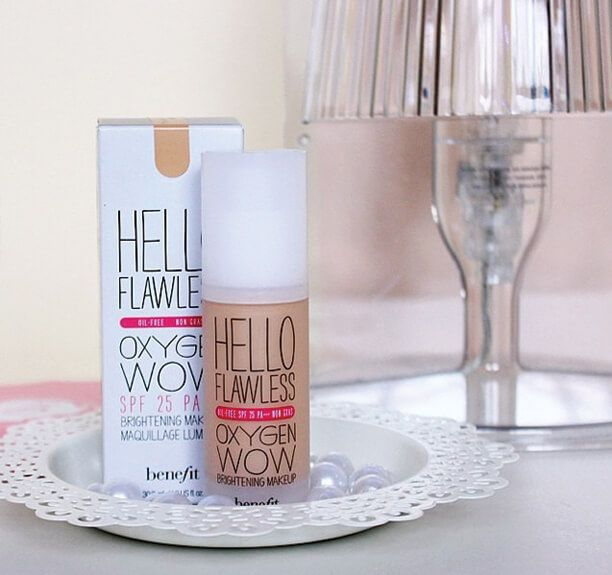 Love my new hello flawless! oxygen wow liquid foundation | Benefit Cosmetics Oil-free Hydrating Broad-spectrum SPF 25
